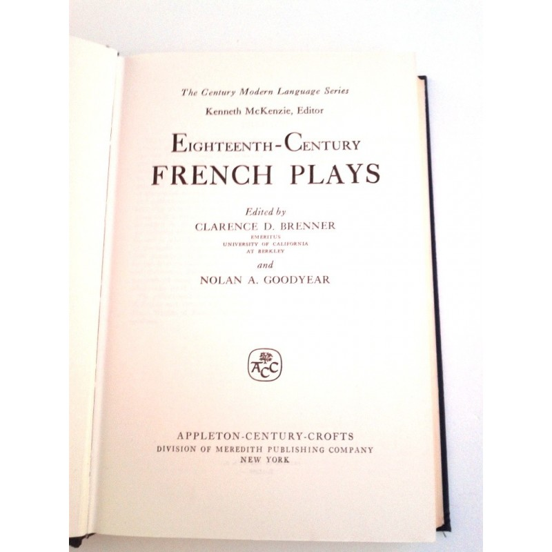 Eighteenth century french plays by clarence d brenner and for 18th century french cuisine
