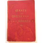 Recueil de CHANTS pour CHOEUR D'HOMMES