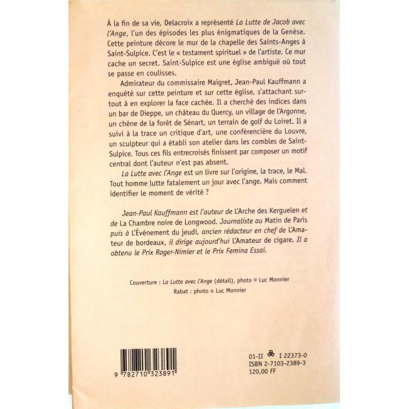 La Lutte Avec L 39 Ange Par Jean Paul Kauffmann Editions La Table Ronde