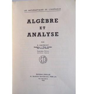 Algèbre et analyse